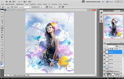 Как в фотошопе сделать фото красками